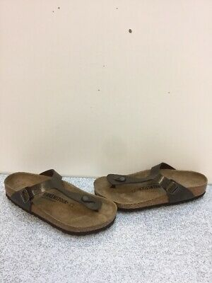 fad3378cf105 Birkenstock Gizeh Golden Brown Birko-Flor Buckle Slide Sandals Women s Size  39 M