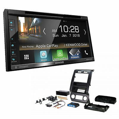 Kenwood Double 2-Din Car Stereo Radio Sirius-XM Install Package For Ford Trucks