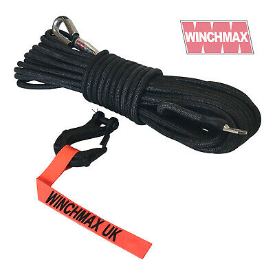 WINCHMAX Armourline Synthetic Rope 25m/10mm  + Tactical Hook - MBL 9,500KG