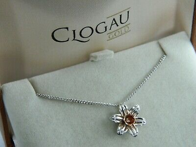 f7d5673d7 CLOGAU SILVER & 9ct Rose Welsh Gold Daffodil Pendant RRP £129.00 ...