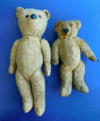 2x Vintage Mohair Straw & Cotton Fill Teddy Bears Chad Valley etc