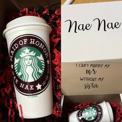 Starbucks  Coffee Cup DECAL  personalized custom name
