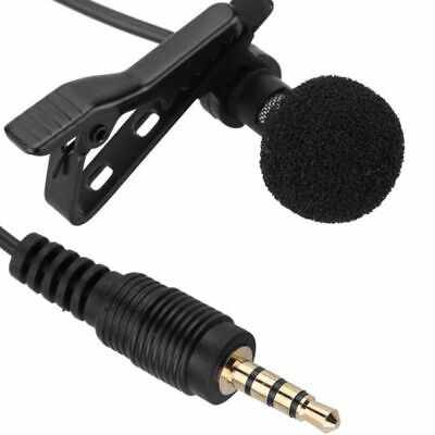 Lapel Mic for iPhone Recording, Youtube Camera DSLR Video Conference Android PC