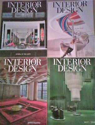 INTERIOR DESIGN MAGAZINE Lot 4 Issues Sep 2016 - Dec 2016