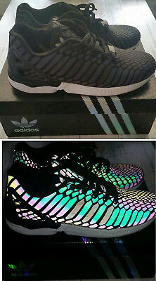 ADIDAS ZX FLUX XENO REFLECTIVE BLACK PRE OWNED SZ 11 B24441 Mens ... 85fd6834b