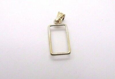 14K Pretty Yellow Gold Thin Frame for 1 Gram Gold Pamp Suisse Bar