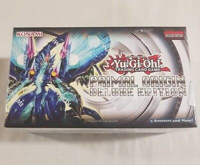 YUGIOH Trading Card Game Primal Origin Deluxe Edition 9 Booster Pack Box English