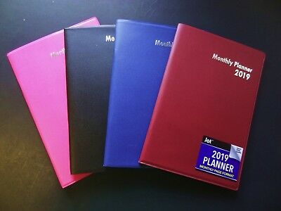 2019 Softcover Monthly Planner Calendar Organizer Agenda Appointment Book New 19