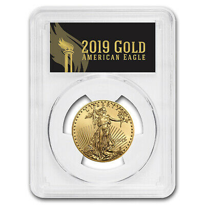2019 1/2 oz Gold Eagle MS-70 PCGS (First Day, Black Label) - SKU#177792