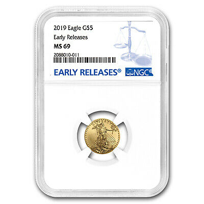 2019 1/10 oz Gold American Eagle MS-69 NGC (Early Releases) - SKU#171554