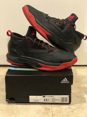 competitive price 5ca57 4884f adidas D Lillard 2 Away Dame Black Rip City Portland Blazers 11.5 Boost  Bounce