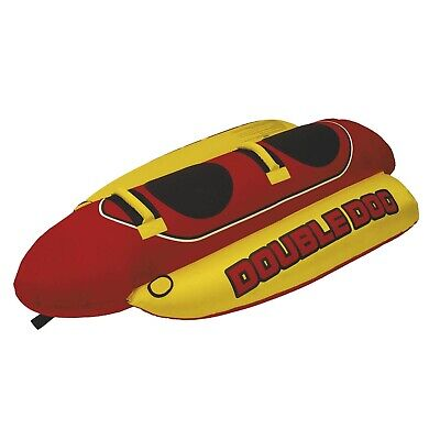 f10922e76dc Airhead HD-2 Double Dog 2 Person Towable Tube Inflatable Water Boat Tube