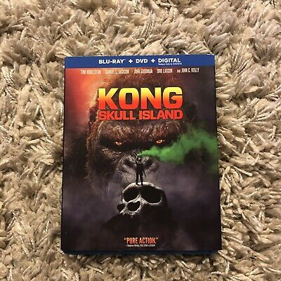 Kong: Skull Island (Blu-ray/DVD, No Digital Copy) Like New Slipcover