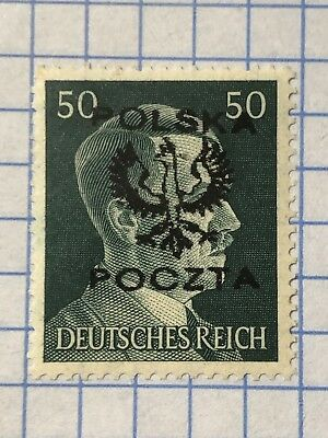 GERMANY POLAND 1945 POST WWII-LOCAL ISSUE 50 Pfg.  MNH /s1
