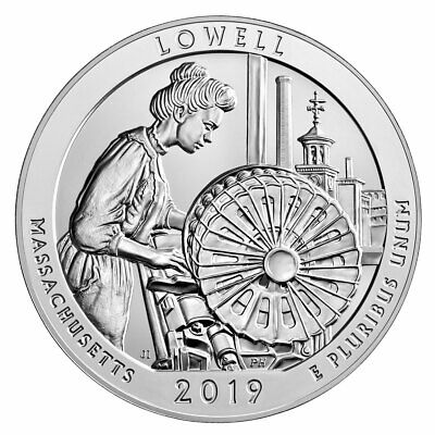 2019 Lowell 5 oz Silver ATB America the Beautiful Coin GEM BU PRESALE SKU57024