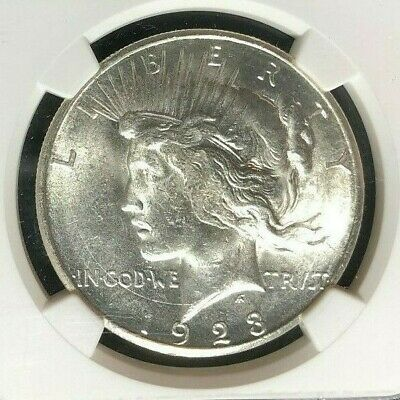 1923-S Peace Silver Dollar - Ngc Ms 63