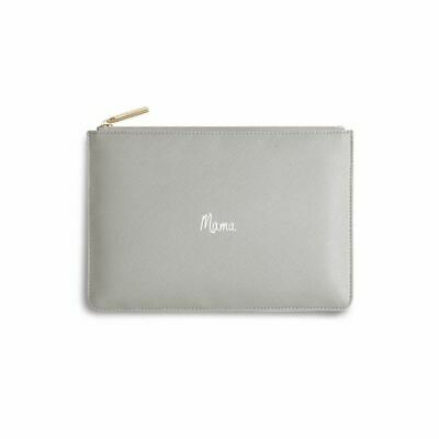 Katie Loxton Perfect Pouch MAMA Grey Clutch Bag with Free Gift Bag