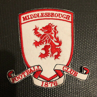 Middlesbrough Football Shirt Club Crest Iron Badge Emroidered Patch Sew Logo