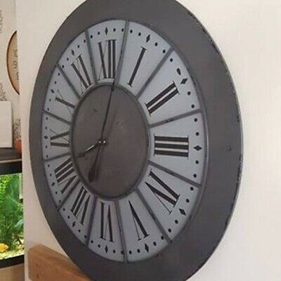 Extra Large 100cm Feature Retroindustrialvintage Metal Wall Clock