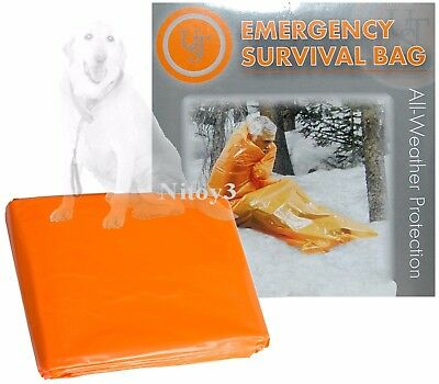 UST Emergency Survival Bag Heat Reflective All Weather Use Size: 84x36""