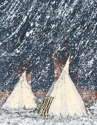 Kevin Red Star, First Snow, Serigraph