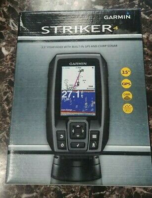 """Garmin Striker 4 with Transducer, 3.5"""" GPS Fishfinder with CHIRP Traditional"""