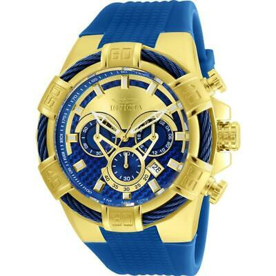 Invicta Men's 52mm Quartz Chronograph Stainless Steel and Silicone Watch 24698