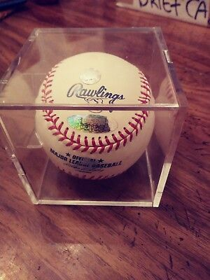 ea201cfe5fc TROY GLAUS AUTOGRAPHED baseball with hologram authentication sticker ...
