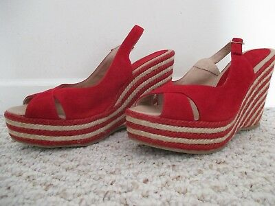 4eda761f40d PALOMITAS BY PALOMA Barcelo Red Wedge Espadrille Shoes Size 40 - EUR ...
