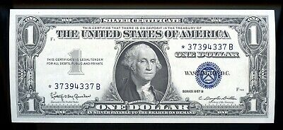 Series Of 1957 B United States Silver Certificate $1 Star Note Ow642