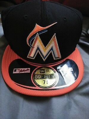 new styles 775c1 d5e7d ... low profile b9eee 89ca7  inexpensive new era 59fifty mlb cap miami  marlins on field fitted 5950 hat size 7 3