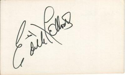 Edith Fellows Autographed Index Card 1930s Popular American Actress D.11