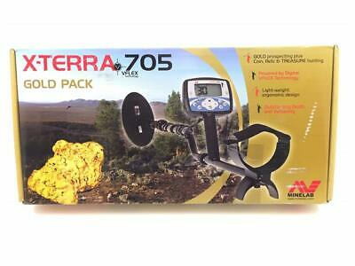 Minelab X-Terra 705 Gold Pack Portable Treasure Metal Detector DD Search Coil