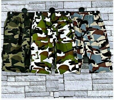 Summer Knee Length camouflage combat  Kids,Boys and Girls Shorts Age 2-14 Year