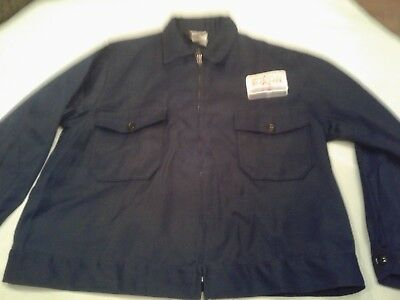 Vintage Exxon gas station jacket NEW size 50 poly cotton twill