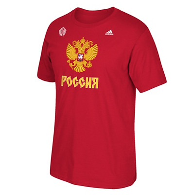 2016 ICE HOCKEY WORLD CUP T SHIRT Team RUSSIA S/L size PANARIN OVECHKIN MALKIN