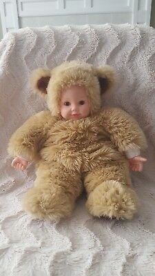 Baby Bear Bean Filled Doll Punctual Vintage Anne Geddes New With Tags No Box!
