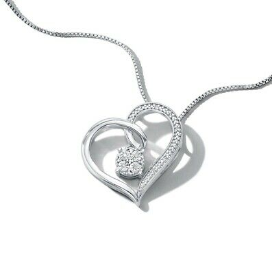 kay jewelers Heart Necklace With Diamonds In Sterling Silver