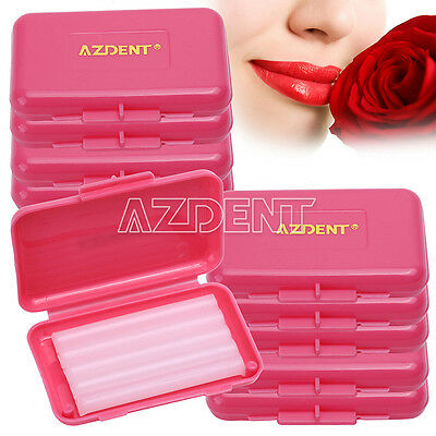200 Kits Dental Orthodontic Ortho Wax Red-Rose For Braces Gum Irritation AZ