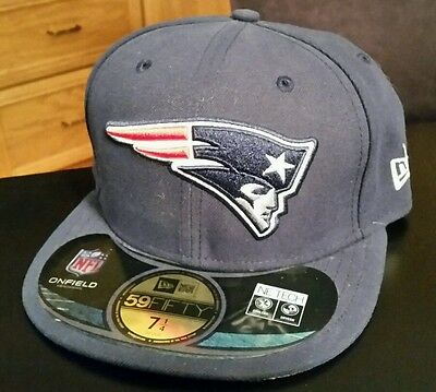 7606e1106bc NWT NFL New England Patriots Fitted 5950 59fifty New Era Hat Cap Size 7 1