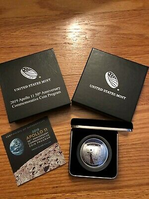 2019 1 Oz Silver Apollo 11 50th Anniversary Proof Dollar. In Hand.Ready to Ship!