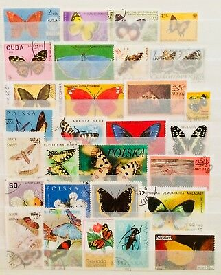 * Educational Collection Butterflies + Moths Thematic Topic Stamps 02120618 *