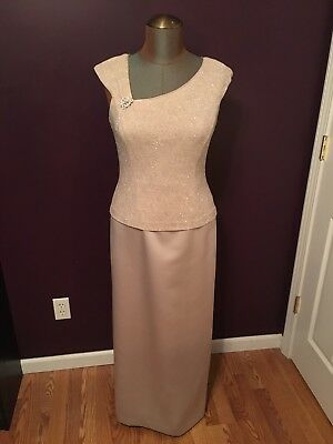 1cdc908d7af Patra Mother of the Bride Groom Formal Dress Womens Size 12 Champagne  Glitter