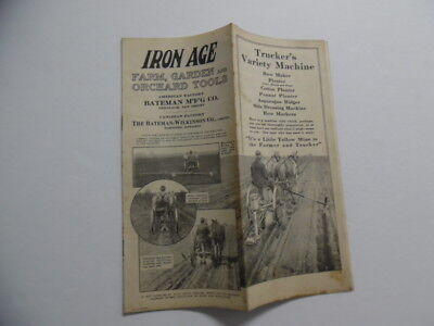 1916 Iron Age Trucker's Variety Machine Catalog Brochure Bateman Mfg Co Vintage
