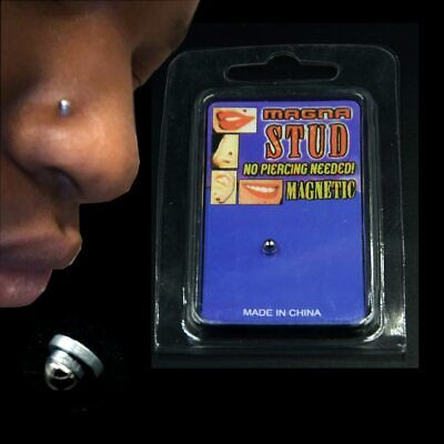 New Fake Cheater Non Pierced Magnetic Ear Lip Labret Nose Ring Stud Body Jewelry