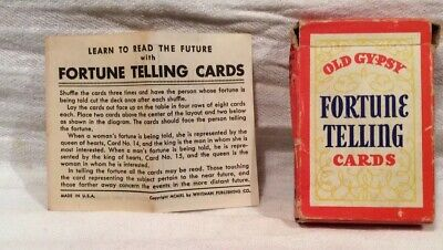 Vintage 1940 Whitman OLD GYPSY FORTUNE TELLING CARDS Tarot Deck!