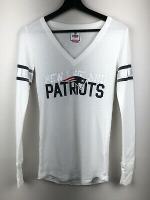 Victoria s Secret Pink 5th   Ocean NFL Patriots Long Sleeve Lounge Size  Small d204a4bea