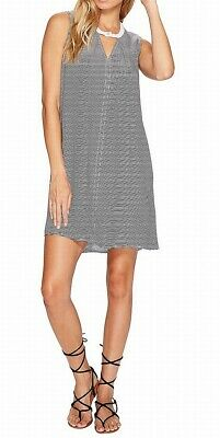 Hurley NEW Black White Womens USA Small S Striped Cut Out Shift Dress $50 848