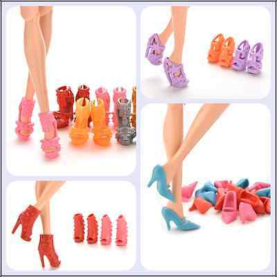 Vouge Mix Color Fashion High Heel Shoes Cloth Accessories For  Doll H Xj