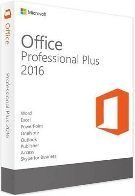 Microsoft Office Professional Plus 2016 1 User Activation - NO Product Key